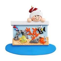 Loves Fish Aquarium ornament personalize