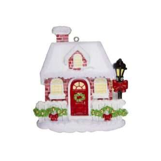 Red Brick House Personalized Christmas Ornaments