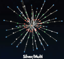 Silver/Multi, Green, Red, Blue Radiant Blasts