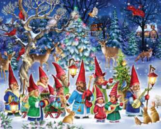 Going Gnome for Christmas Jigsaw Puzzle