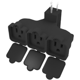Three outlet outdoor plug