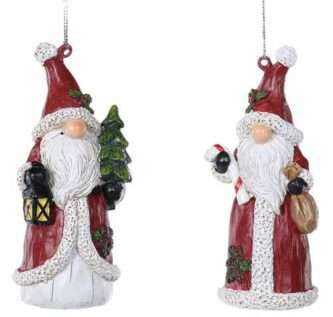 Santa Gnome Ornament Two Styles Candy Cane and Tree