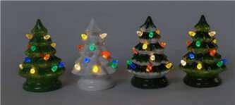 mini ceramic trees four colors