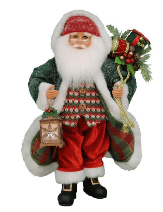 Lighted Snowy Stroll Santa